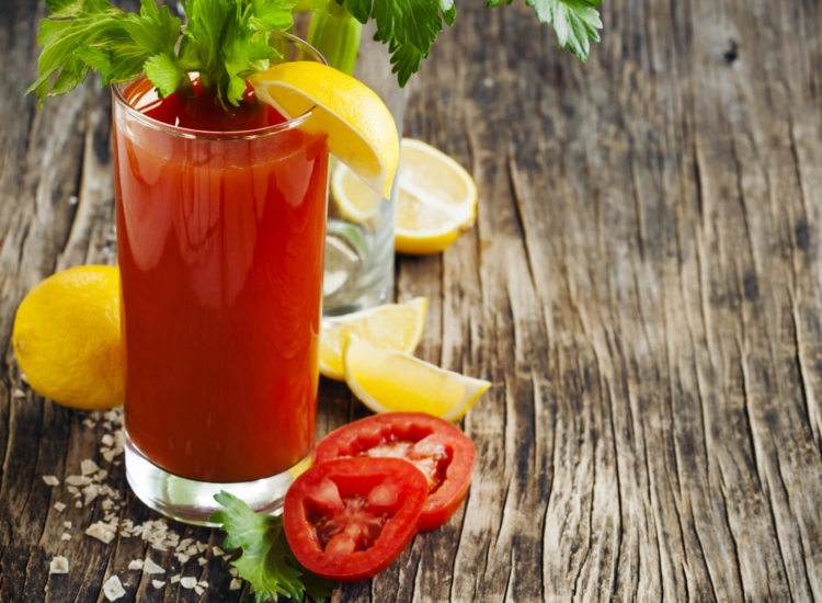 Bloody mary cocktail.
